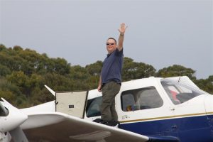 Lilydale pilot, Richard Hazeltine, and his Archer very happy to leave the clouded skies of Melbourne behind