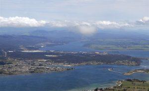 Entrance to the Tamar River, north of Launceston, Tasmania