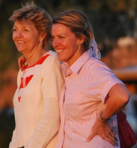 Sisters at sunset. Who knew we used to fight like banshees when we were little?