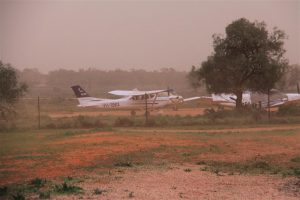 Towards the end of the dust storm.