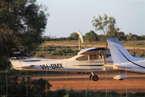 Next morning - clear blue skies again for our flight up to Broken Hill.