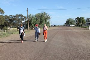 Main street of Parachilna. Only street of Parachilna. The girls have set off in search of the Prada shop.