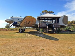 A pilot's dream ... one accommodation option is within the beautifully restored Dakota C-47.