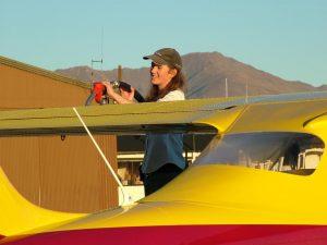 Ruth Presland, flying instructor and mountain knowledge guru.