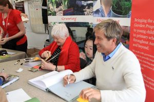 Paul Bangay and Stephanie Alexander signing their new books just in time for Christmas 2013