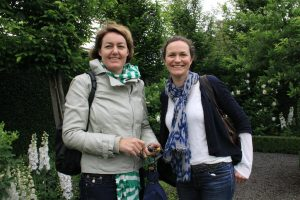Sal and Georgie soaking in the inspiration of the gardens at Stonefields.