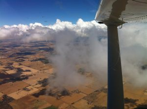 After climbing out of Kyneton in thick cloud, we are finally rewarded with some sunshine just past Shepparton for a lovely flight home to Camden.
