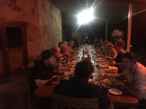 And what a night it was. All the Bullo staff and crew joined us for a BBQ feed. Fabulous.
