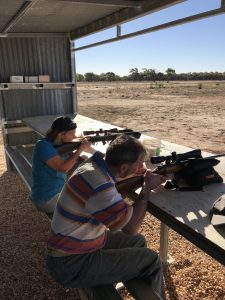 Target practice anyone? This got our eye in for clay pidgeon shooting, which was next on the agenda.