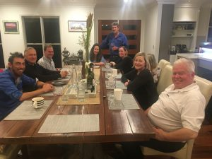 You will be invited to a beautiful dinner in the homestead with the family each night. Your host, Deon (far left), is also an incredible chef.