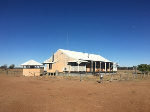 The shearers' quarters, which Deon rebuilt inside and out - a truly beautiful result. There are currently four double bedrooms on offer.