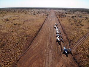Freshly graded strip at Wauchope, NT