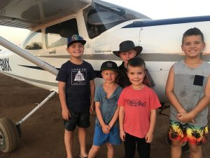 Our aircraft caught the rapt attention of a squad of kids on an outback driving trip.  Look out curtis Aviation ... band of future pilots on its way!