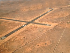 Not bad for an airstrip in the middle of the desert.