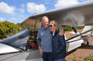 With a howling wind, we were all very happy to see Michael land safe and sound on the home airstrip after a five hour bash across Bass Strait.
