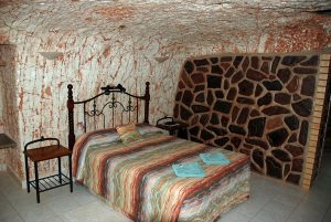 Underground motel rooms are all unique - this one's at the Radeka Downunder.