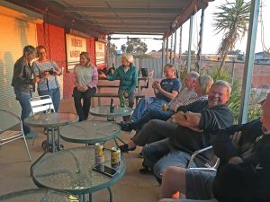 Best place in Coober to enjoy the sunset ... get yourself up to the Italian Club and meet a few locals.