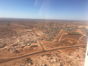 Flat and sparce as far as the eye can see. Welcome to Coober Pedy.