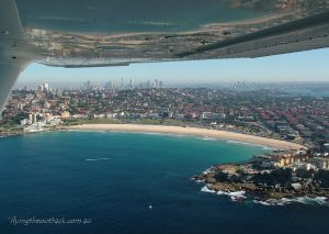 Now fly south, and there's Bondi beach.