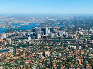 The highrises of North Sydney will be just off your right wing tip as you orbit.